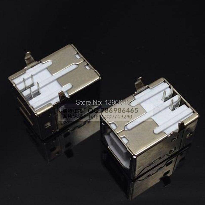 Гаджет  USB type B 90 female Connector Soldering PCB Connector 10pcs None Электротехническое оборудование и материалы