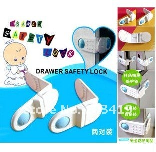 2pcs/pack/lot products baby care drawer safety door locks infant cabinet CN post whcn