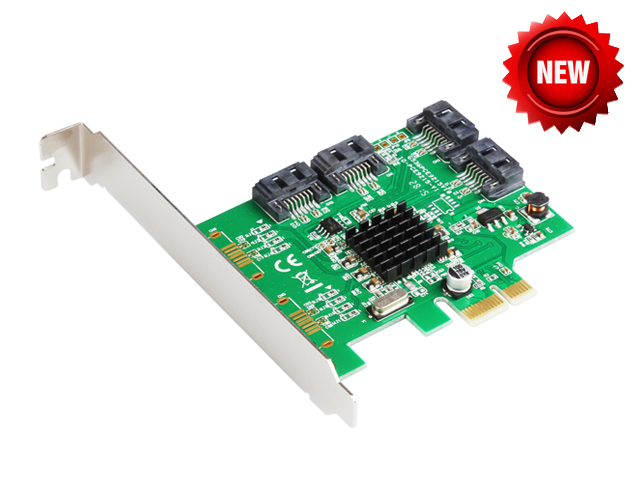 Marvell 88SE9215 4 Ports SATA 6G PCI Express Controller Card PCI-e to SATA III 3.0 converter PCI low profile bracket SATA3.0(China (Mainland))