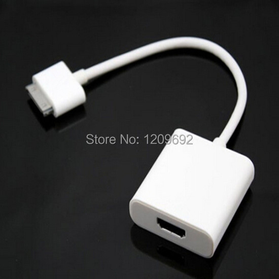 30 Pin Dock Connector to HDMI 1080P HDTV TV Adapter Cable for iPad 1 2 3 for iPhone 4 4S 4G 4GS for the New iPad for iPod Touch(China (Mainland))