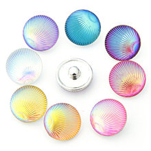 Vintage Snaps Jewelry 10 Pcs Silver Color 18mm Multicolor Mixed Metal Ginger Snap Buttons For Snap Button Jewellery Wholesale(China (Mainland))