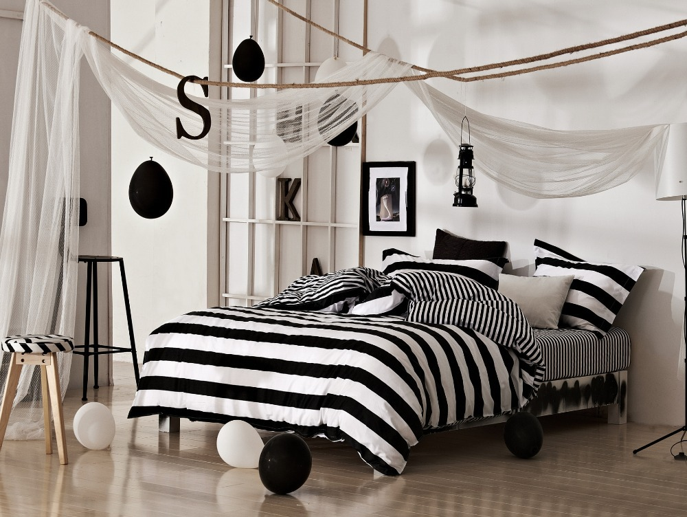 linen set black and white cotton bedding duvet cover in bedding sets