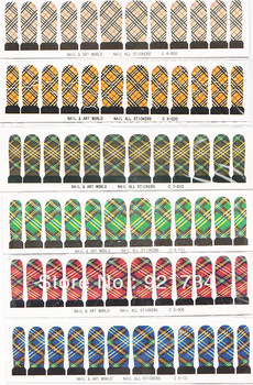 6 set wholesale  Popular Water transfer printing nail art stickers  10 pieces applique hot-selling