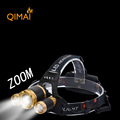 Led Headlight Zoom 8000Lm Rechargeable Headlamp Flashlight Head Torch Xml T6 2Q5 Use 18650 Battery Car