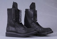 NEW 2013 european version fashion men's cowhide high boots Designer Boots Fashion Show Boots Motocycle boots, EU38-45 BIG SIZE!(China (Mainland))
