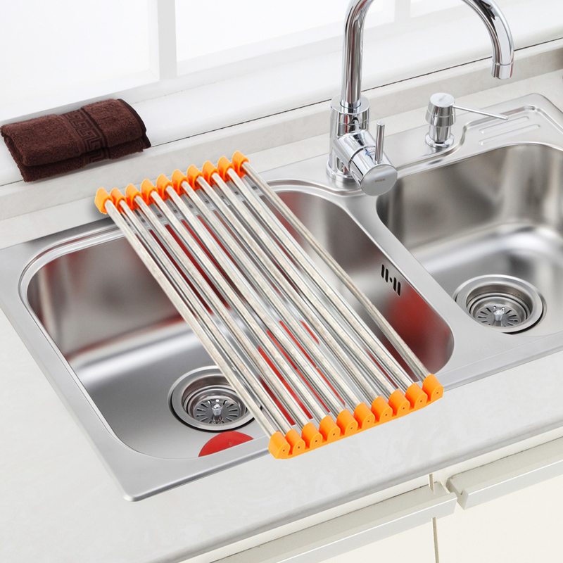 Folding Dish Drying Rack Drainer Modern Over The Sink