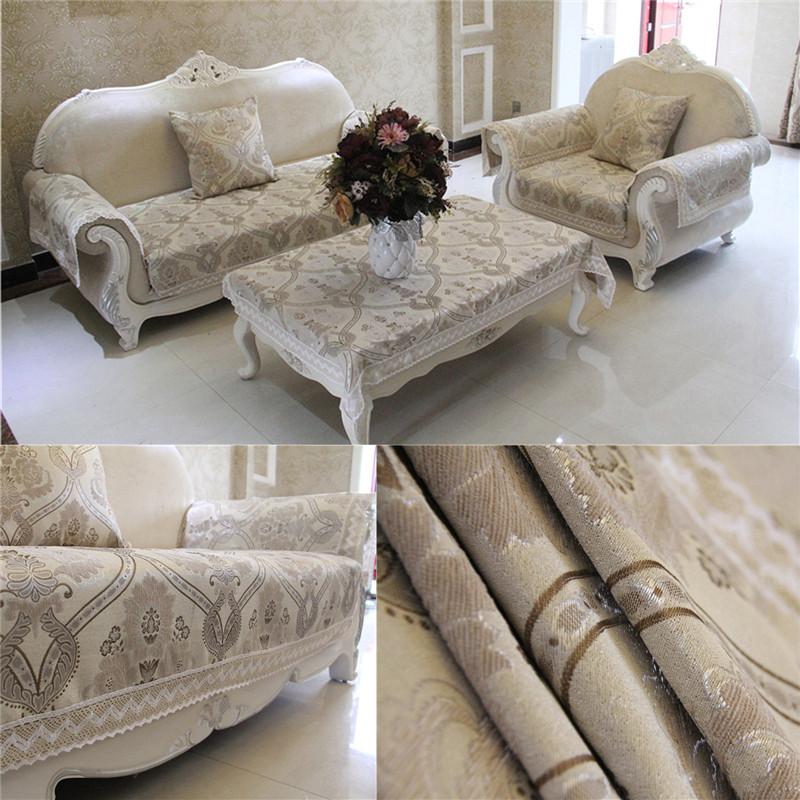 European Classic Home Textile Chenille Jacquard Flocked