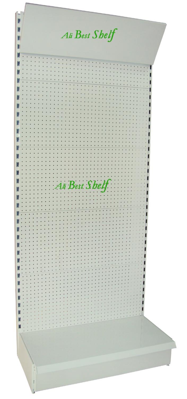 Shelf manufacture punch hole panel hanging hooks supermarket gondola shelves metal store shelf display rack advertising board(China (Mainland))