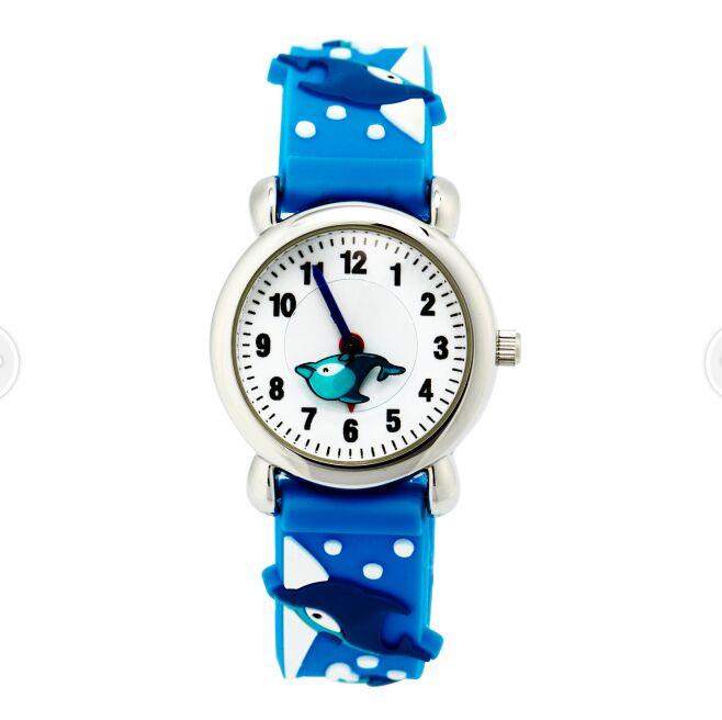 2016 High quality waterproof Kids Children Quartz Wrist Watch Wristwatch Slap On Silicone Band Analog Cute fish watches(China (Mainland))