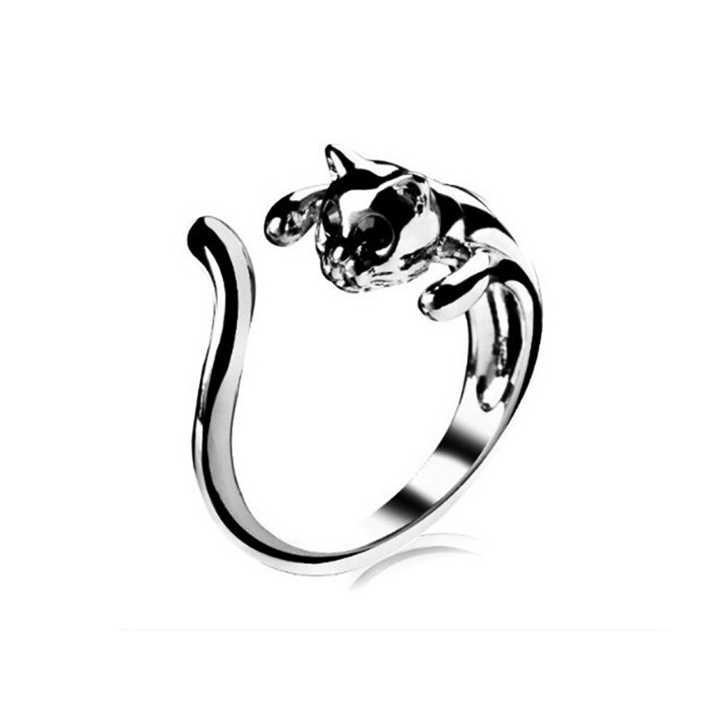 2015 new high quality Classical Fashion Jewelry Alloy Crystal Romantic cat Ring Woman lovely Rings retail(China (Mainland))