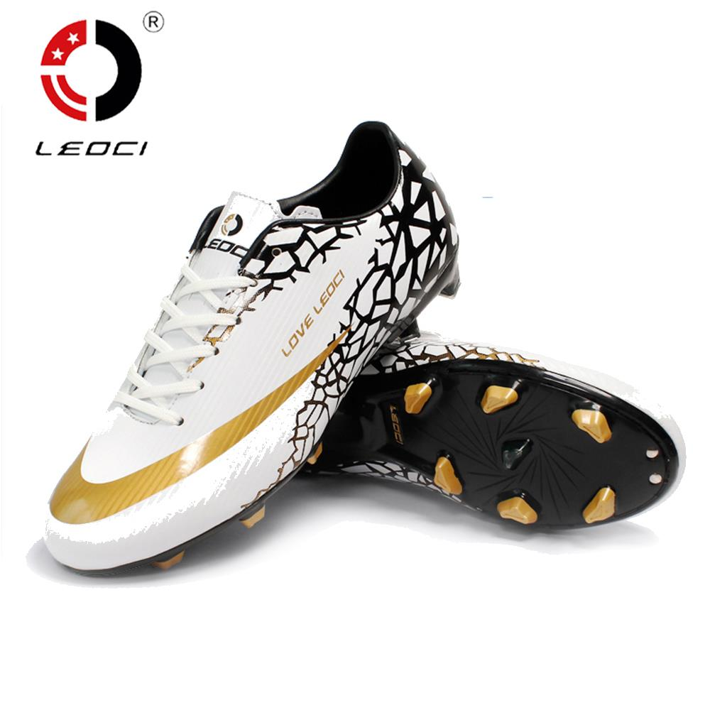 LEOCI Anti-Collision FG Football Shoes Firm Ground Soccer Boots Crampons De Football for Men/Women/Children Size 33-44(China (Mainland))