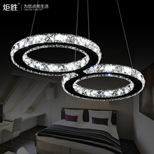 LED Crystal Pendant Lamp 24W Creative Restaurant Cord Pendant Lighting FixtureS Contemporary Style 110-240V AC(China (Mainland))