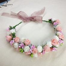 Buy Lanxxy New Women Wedding Bridal Hair Bands Flowers Hair Accessories Floral Crown Girls Summer Headwear Fashion Headband for $5.76 in AliExpress store