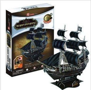 cubic fun Pirates of the Caribbean  Black Pearl 3D carboard puzzle 3D paper model DIY 3D paper puzzle