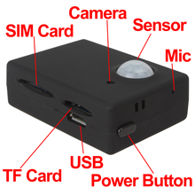 Wireless Mini 1.3M Infrared Camera Video Security GSM Autodial Home Office GPS PIR MMS Alarm System