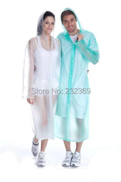 100% NEW CLEAR COLOR FESTIVAL EMERGENCY PONCHO PLASTIC RAINCOAT UNISEX Outdoor emergency first aid raincoat(China (Mainland))