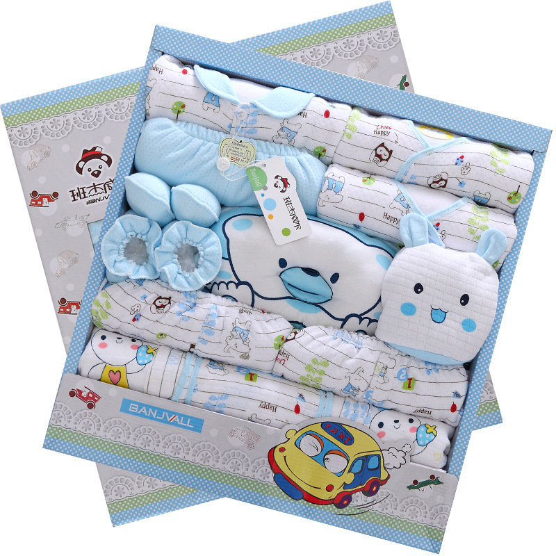 Free Baby Gift Sets : Autumn and winter thick cotton newborn baby clothes