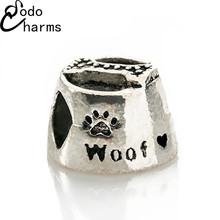 Fashion Perles Jewelry Cute Silver dog bone lunch box Charms Fit Diy Pandora Charms Original Bracelet Best Wholesale Beads(China (Mainland))