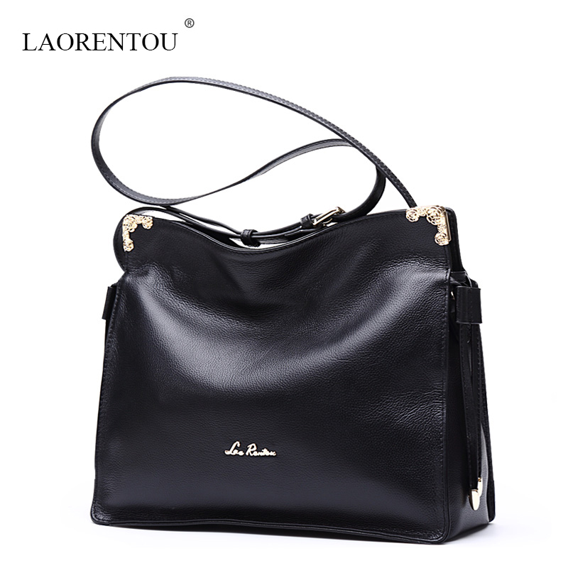 Фотография LAORENTOU women Genuine Leather messenger bags 2016 new famous brands top quality classic shoulder bag Luxury Style crossbody