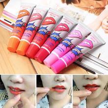 6pcs/lot liquid matte lipstick romantic bear lips wow long lasting waterproof batom liquido mate pintalabios peel off style(China (Mainland))