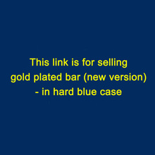 (10pcs) 5 gram gold plated bar (new version) ( non-magnetic ) in hard blue case/ different serial number(China (Mainland))