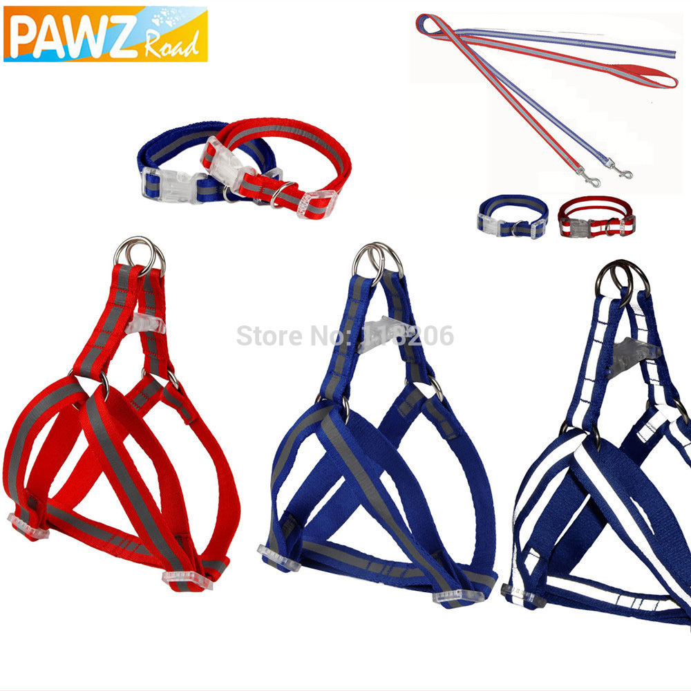 Wholesale Light Reflective Collar Leashes Harness Set Pet Leash Dog Adjustable Safety Walking Outing Rope Puppy(China (Mainland))