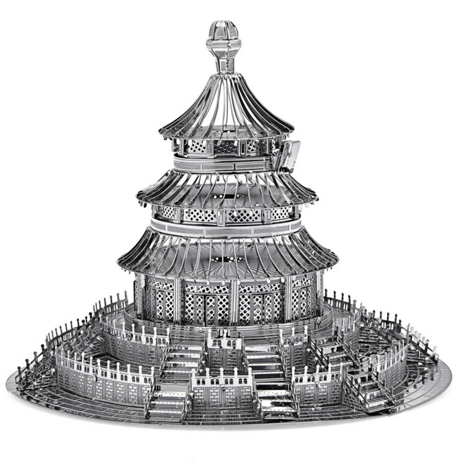 Hot Sale 3D Metal Puzzles forge world DIY Building Model Metal puzzle toys For Children as Children's day gift arquitectura(China (Mainland))
