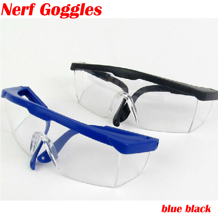 Hot Special Need goggles Sunglasses for Children Kids Toys Bullet Nerf Gun Outdoor Game Compatible nerf black blue goggles(China (Mainland))
