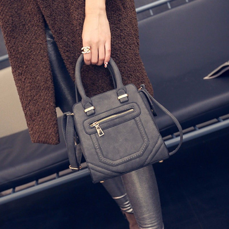 Retro Chic Small Square Hand Bag Women Stylish Classy Shoulder Bag Fashionable Simple Ladies PU Leather Crossbody Bag