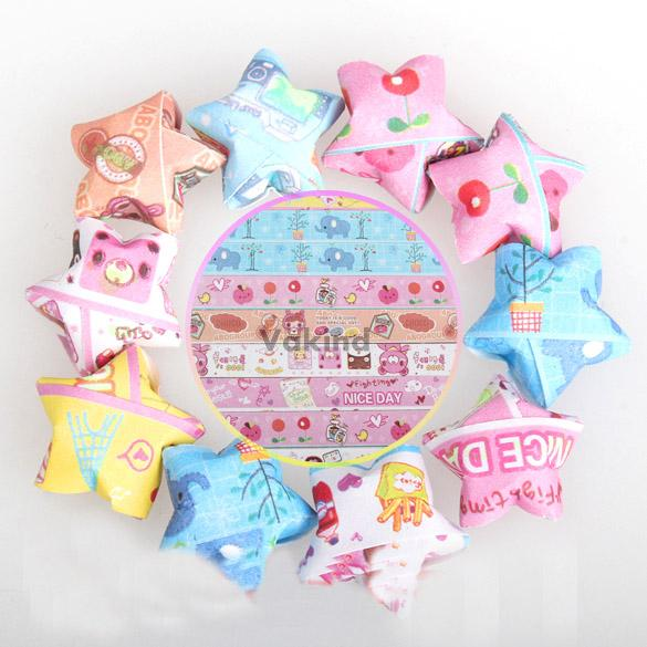 V1N Folding Kit Lucky Star Origami Lucky Wish Star Origami Paper 70 Strips Paper(China (Mainland))
