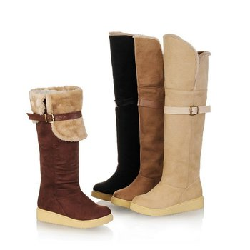 2012 new snow boots female boots frosted winter essential warm tube circumference 40% OFF Factory price34-39