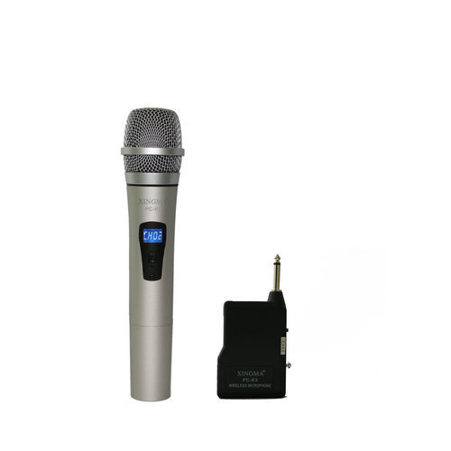 Television and computer conference speaker Kara ok metal LED wireless microphone,1pcs free shipping
