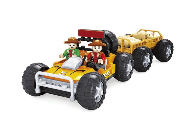building block set compatible with lego happy farm 258 3D Construction Brick Educational Hobbies Toys for Kids(China (Mainland))