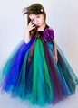 Christmas costumes for girls Mesh Bunny dresses Ballet dance Girls clothes Performing Peacock Princess dress Children