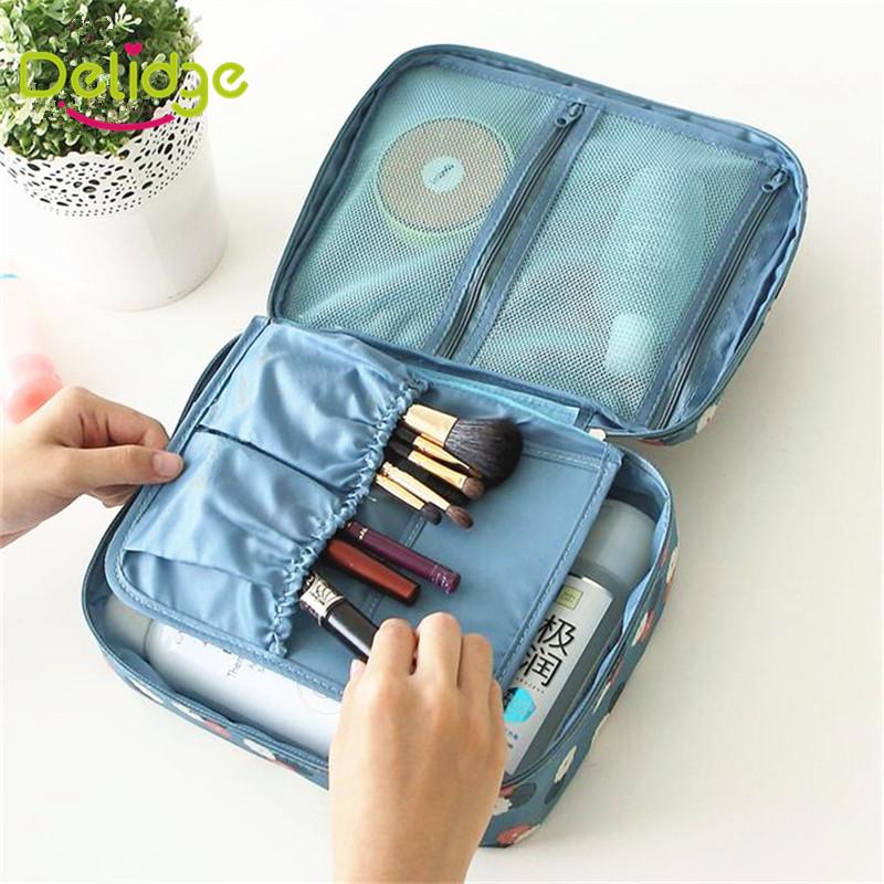 1 pcs 6 Colors Travel Storage Bag Nylon Zipper Women Cosmetic Bag Make Up Organizer Toiletry Storage Travel Wash Makeup Bag(China (Mainland))