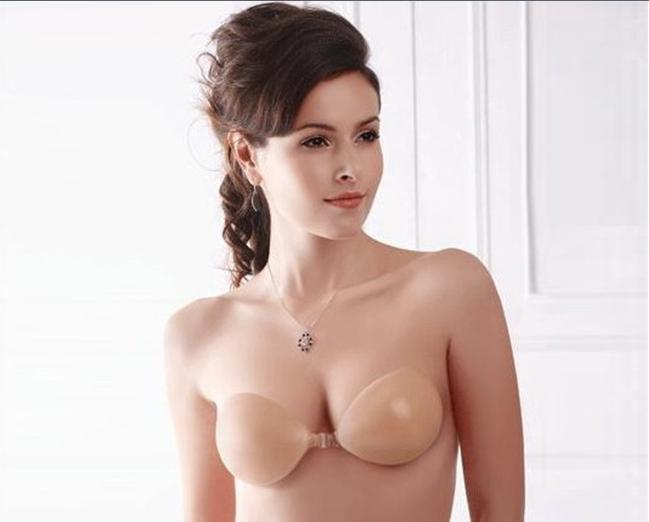 Self Adhesive Silicone Nude Strapless free bra silicone fashion seamless B C D cup four size - love&charm store