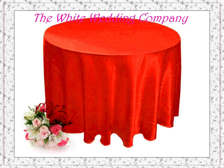 Autumn Tablecloths Round 10pcs Red Tablecloth Round