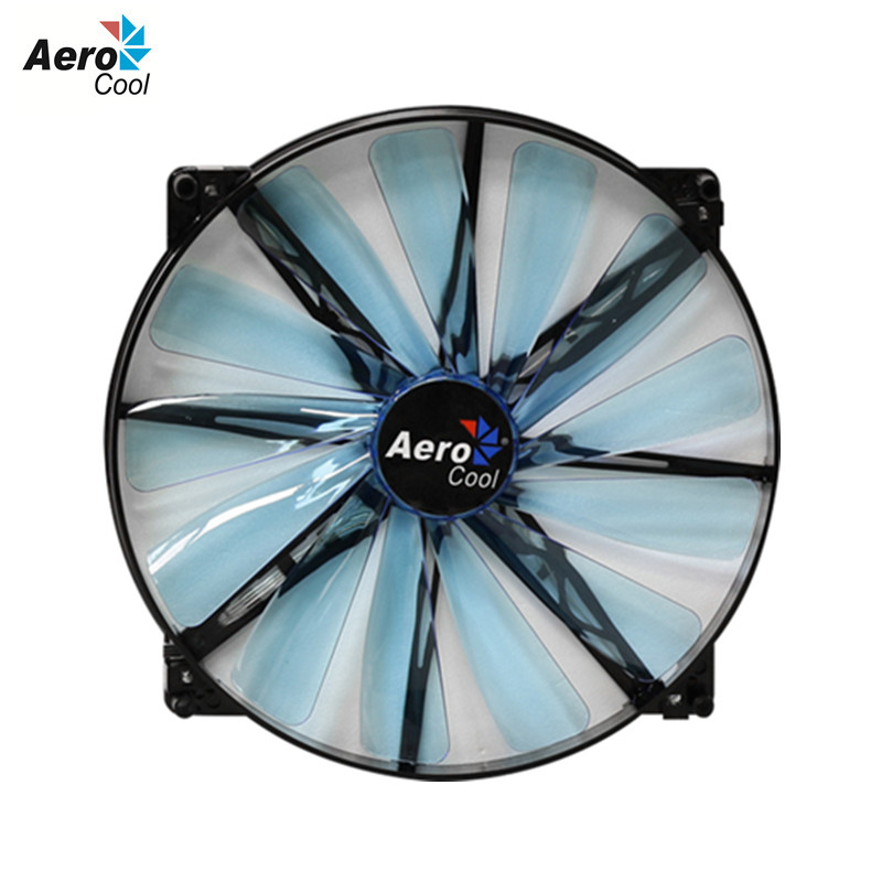 Aerocool Lightning 200mm Fan Computer Case Cooling Fan 200 mm Blue Edition DC 12v 3 Pin&4 Pin Silent Fan 200mm For Computer Case(China (Mainland))