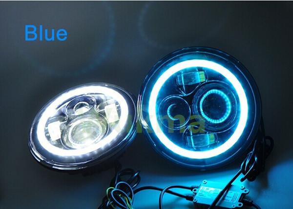 GUANGZHOU 45w 7 Inch Round LED Car Headlight Bulbs , Wrangler accessories light High Low Beam Headlamp<br><br>Aliexpress