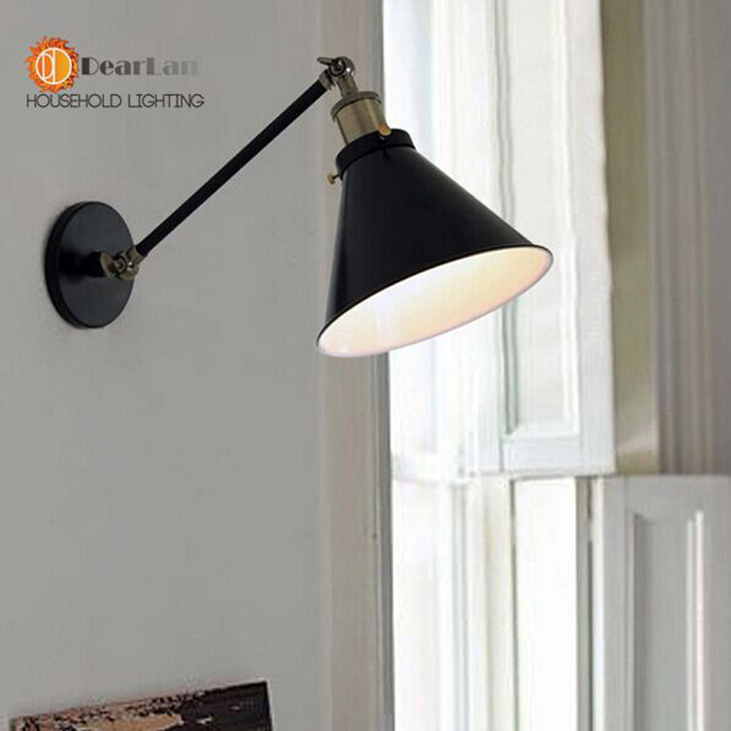 vintage  Single section wall lamp. . vintage wall lamp series item.Many colors to choose from for Black/green/bule/pink.<br><br>Aliexpress