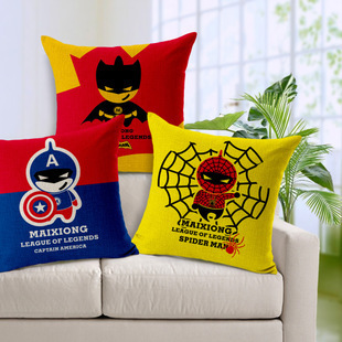 Hot Sale Spider People Super Cushion Without Core Car Sofa Decorative Throw Pillows Cotton Linen Chair Pillow Home Decor 45*45cm(China (Mainland))