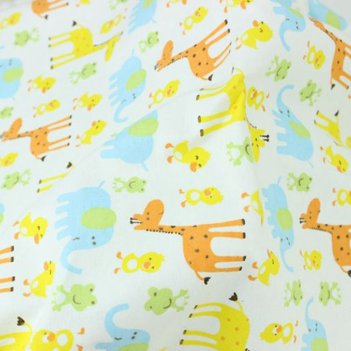 Printed 100% Cotton Flannel Fabric for Children Sleepwear Baby Blanket Garment Dress, Cotton Brushed Cloth, Cartoon Print Tissue(China (Mainland))