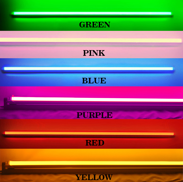 4ft t8 120cm 18w colorful rgb led tube top quality. Black Bedroom Furniture Sets. Home Design Ideas