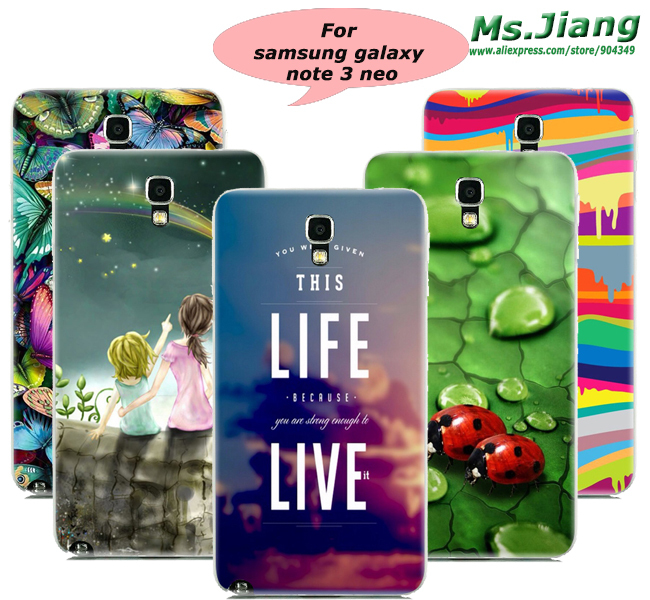 Top Selling High Quality Paint Back Skin Bag Case Cover for Samsung Galaxy Note 3 Lite N7506 Hard PC Phone Cases(China (Mainland))