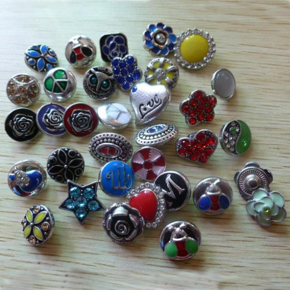 5 mix styles colors 12mm small size interchangeable snap button charm fit leather jewelry - YY Jewelry Store store