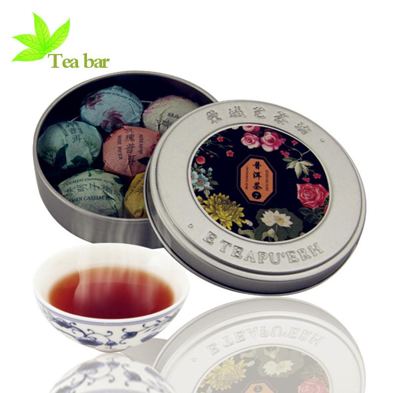 Puer China  city photos : puer thee mini doos zeven mix smaak afslanken thee chinese yunnan puer ...
