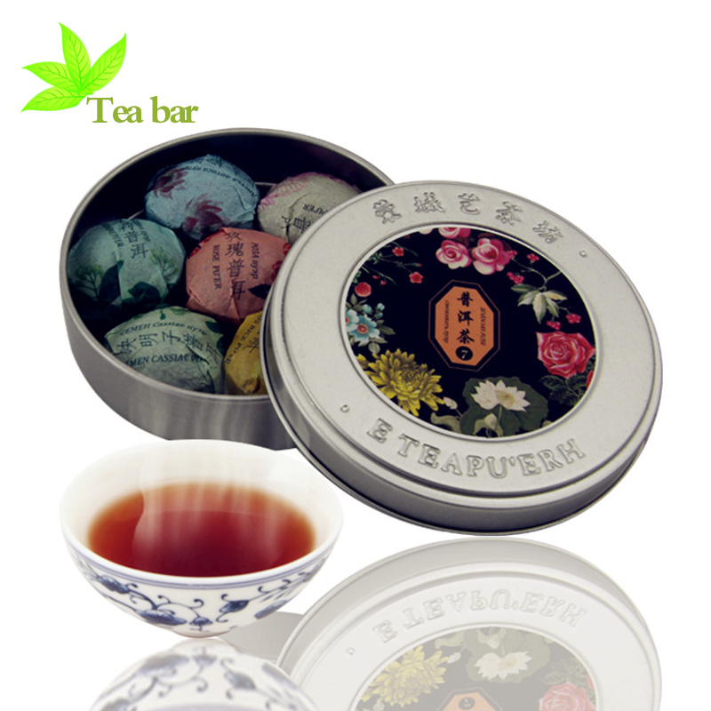puer Chinese Organic Natural Health Food Compressed puer tea Mini Box Seven Mix Taste Slimming Tea Chinese Yunnan puer tea PX008(China (Mainland))