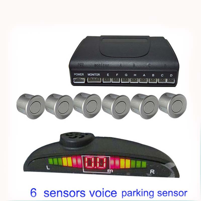 New Year Well Received Car Parking Sensor Small LED Display Front and Rear 6 Sensing Tag System Numerical And Color System(China (Mainland))