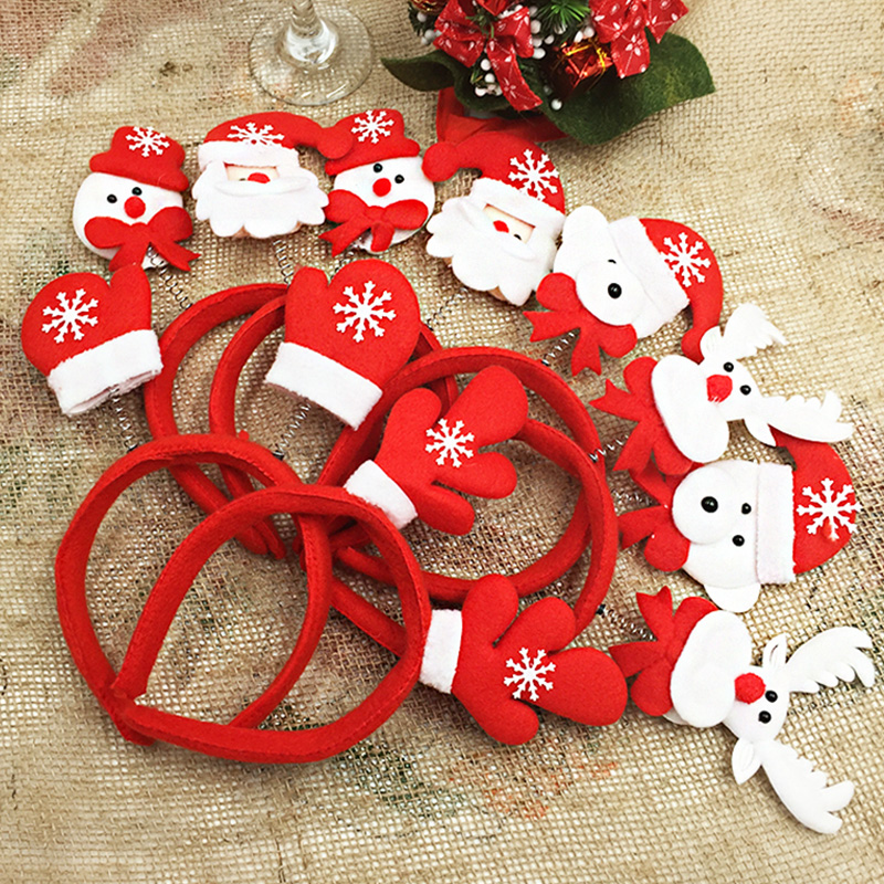 Cute antlers christmas headbands santa claus reindeer for Make christmas decorations with kids at home