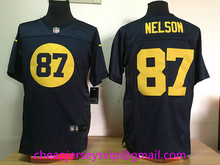Wholesale Stitched 2016 Green Bay Packers Aaron Rodgers Clay Matthews Eddie Lacy B.J RaJi Jordy Nelson Brett Favre Randall Cobb(China (Mainland))